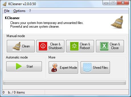 برنامج KCleaner لتنظيف جهاز الكمبيوتر وإزالة جميع الملفات الغير ضرورية