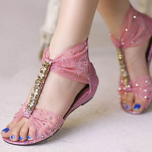 Pink flats for brides
