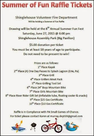 6-27 Summer Fun Raffle SVFD