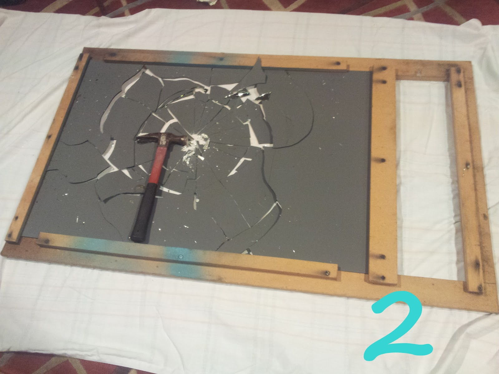 its all about the lovely diy shattered mirror wall art