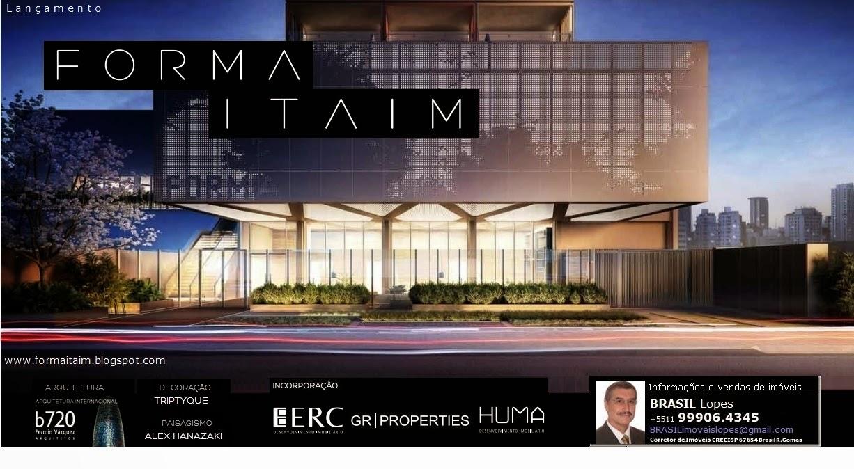 FORMA ITAIM - Aptos. STUDIO 45m² e DUPLEX 66m² + COBERTURAS e GARDENS ao lado das Avs. Faria Lima/JK