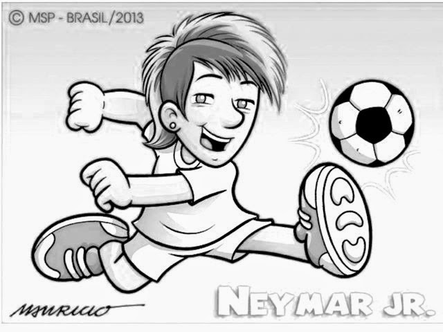 Neymar jr free coloring pages for Fanboy and chum chum coloring pages