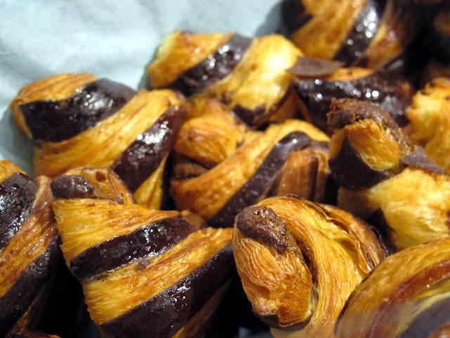 Salon du Chocolat - Laurent Duchêne - Croissants chocolat praliné