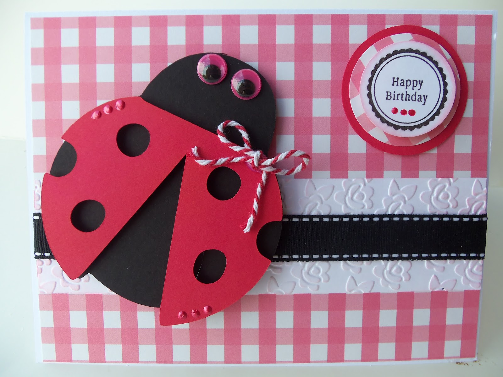 DoubleClick AKA Abusybee Happy Birthday Card Lady Bug Style – Ladybug Birthday Cards