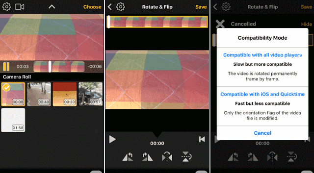 How to rotate videos on android smartphone and iphone once you open the application introduce themselves all video clips on your phone then select the one you want to edit ccuart Images