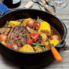 Dutch Oven Pot Roast and Vegetables