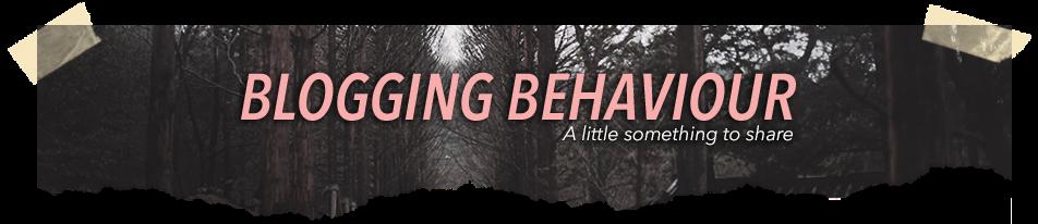 Blogging Behaviour | Sue Anna Joe