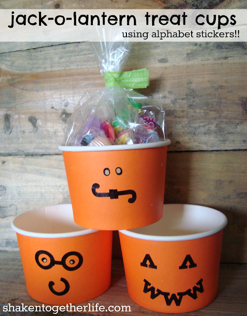 jack o lantern+treat+cups+using+alphabet+letters+BLOG Taylor House Thursday #25