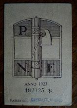 1927 - TESSERA DEL FASCIO DI CAPRIATE S. GERVASIO