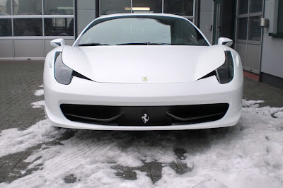 A Wonderful White Ferrari 458