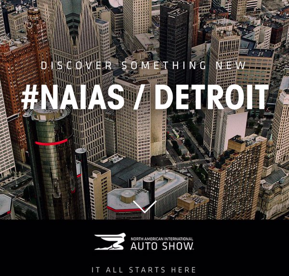 Crews Begin Set Up of North American International Auto Show