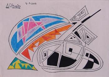 Figuras geométricas en color y en negro