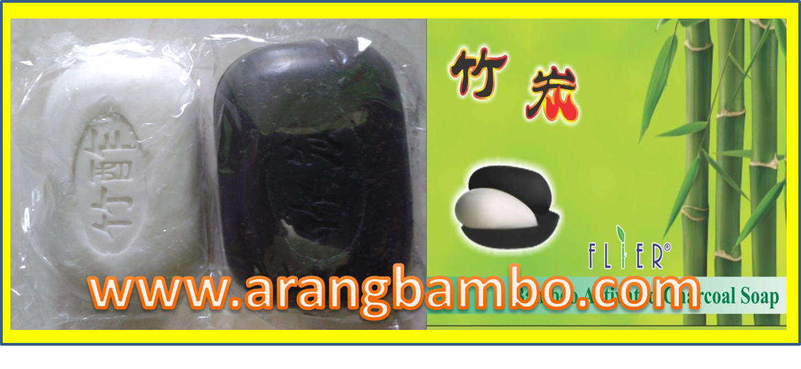 sabun arang bambu, bambo actived charcoal