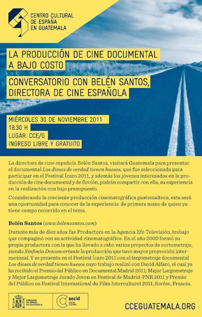 30 de Diciembre en CCEG/ Conversatorio sobre Producción de Cine Documental a Bajo Costo