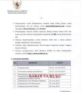 Jadwal Seleksi Terbuka Calon Pimpinan Tinggi Madya Tahun 2015.