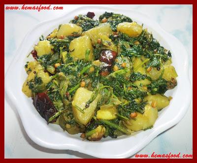 Spinach Potato Stir Fry