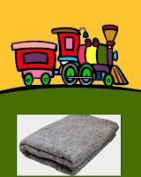 trem e cobertor