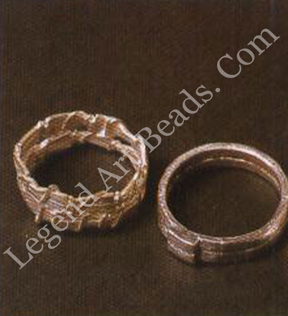 Four silver rings, made by fusing.