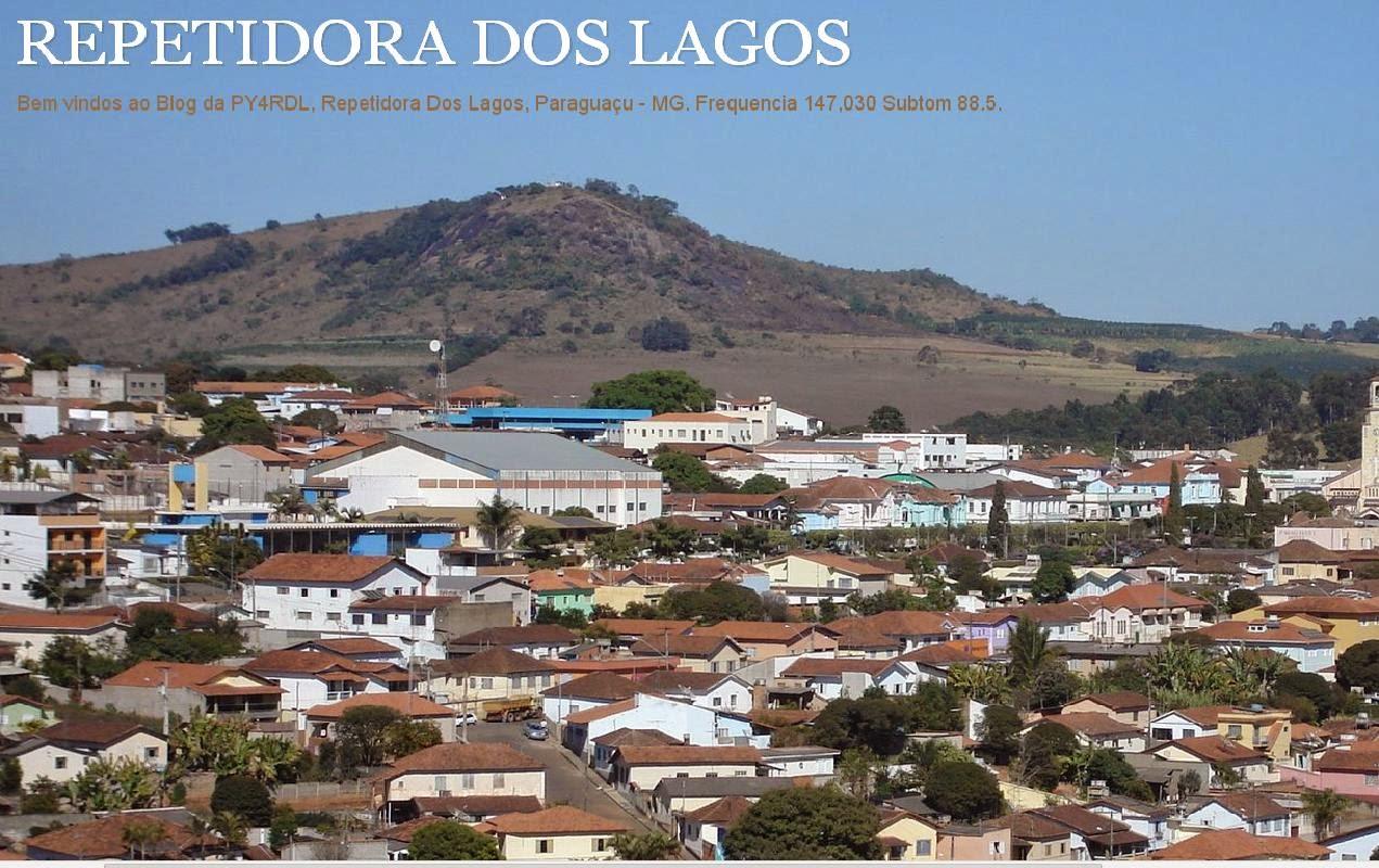 REPETIDORA DOS LAGOS PARAGUAÇU M.G FREQ. 147.030 MHZ SUBT. 88,5 KHZ