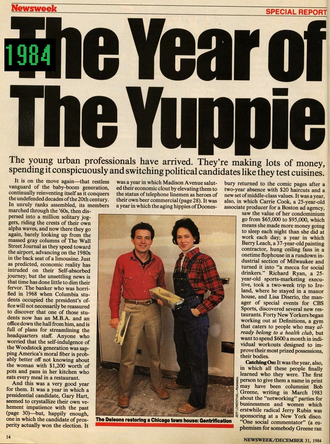 80s Actual The History Of The Yuppie Word