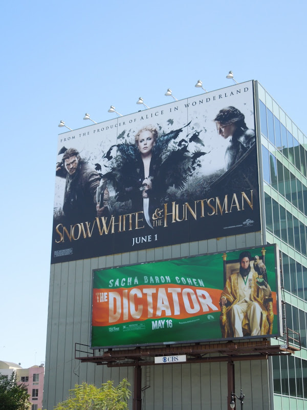 Snow White Huntsman movie billboard