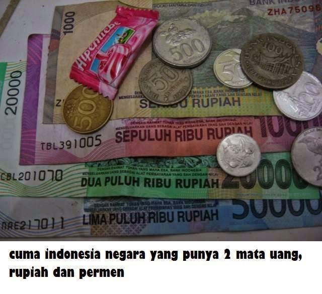 Cuma indonesia yang punya dua mata uang