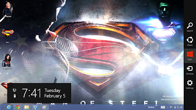 Superman Man Of Steel 2013 Theme For Windows 8