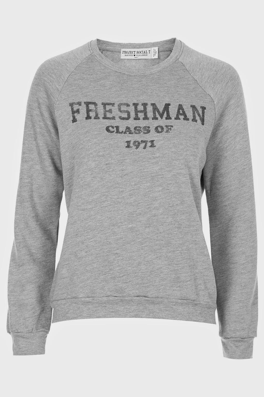 grey logo sweater topshop