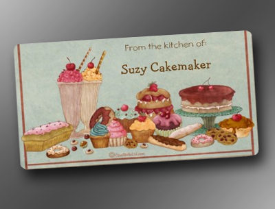 Sundae And Sweets Personalized Baking Labels