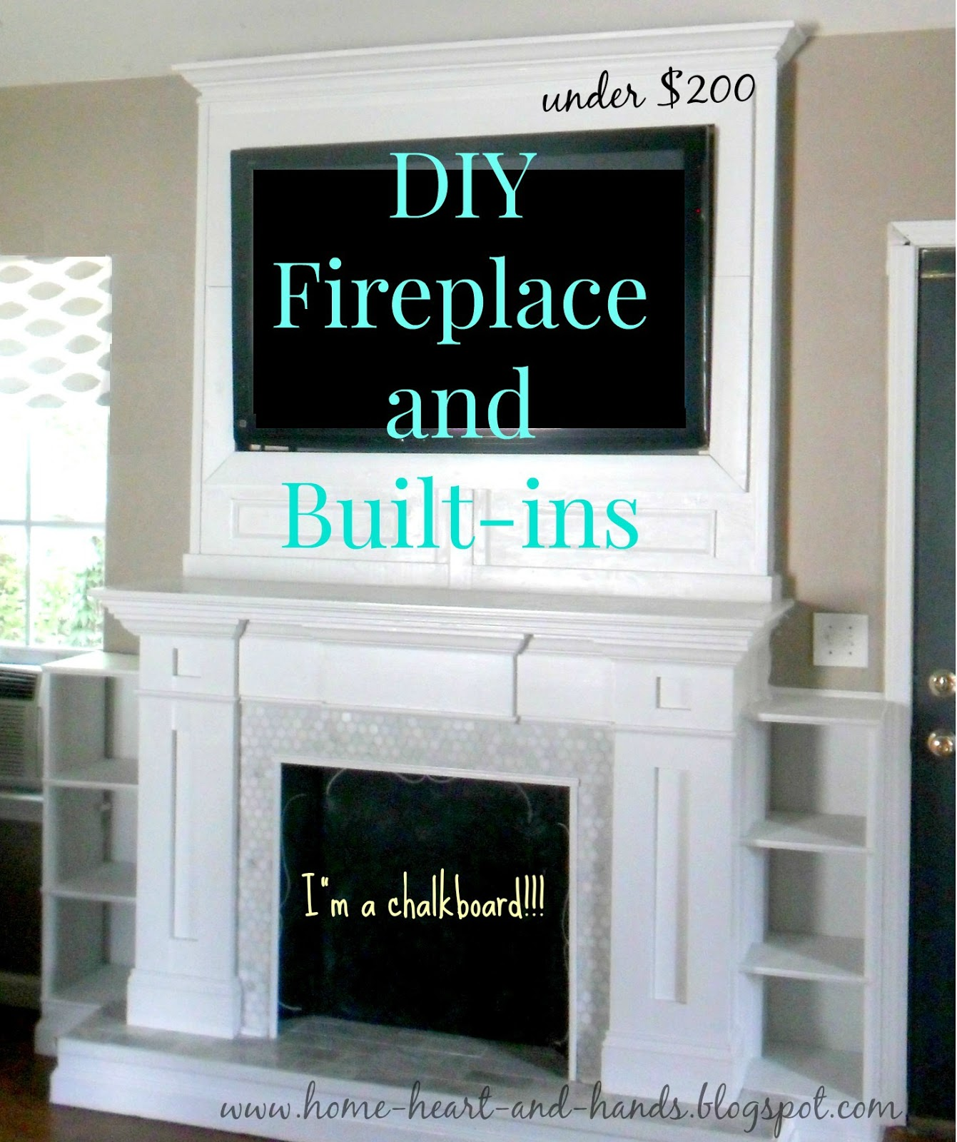 home heart and hands how to build a diy fireplace