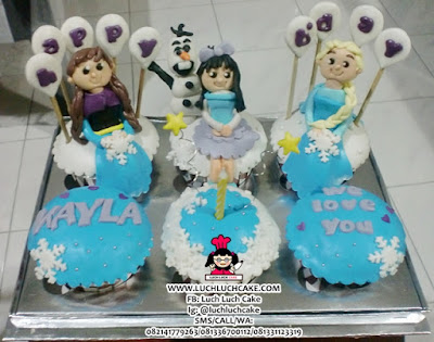 Frozen Cupcake CUte Daerah Surabaya - Sidoarjo
