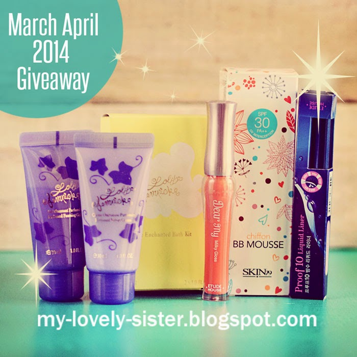 http://my-lovely-sister.blogspot.com/2014/03/giveaway-2014-march-april.html