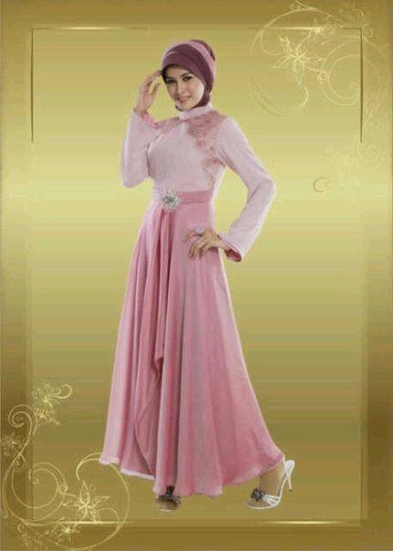 model baju pesta muslim bahan sifon