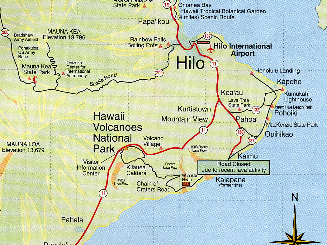 Sapphire Princess Odyssey Hilo Hawaii - Hawaii road map