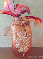 http://plumperfectandme.blogspot.com/2015/08/stenciled-dimensional-leaf-mason-jars.html