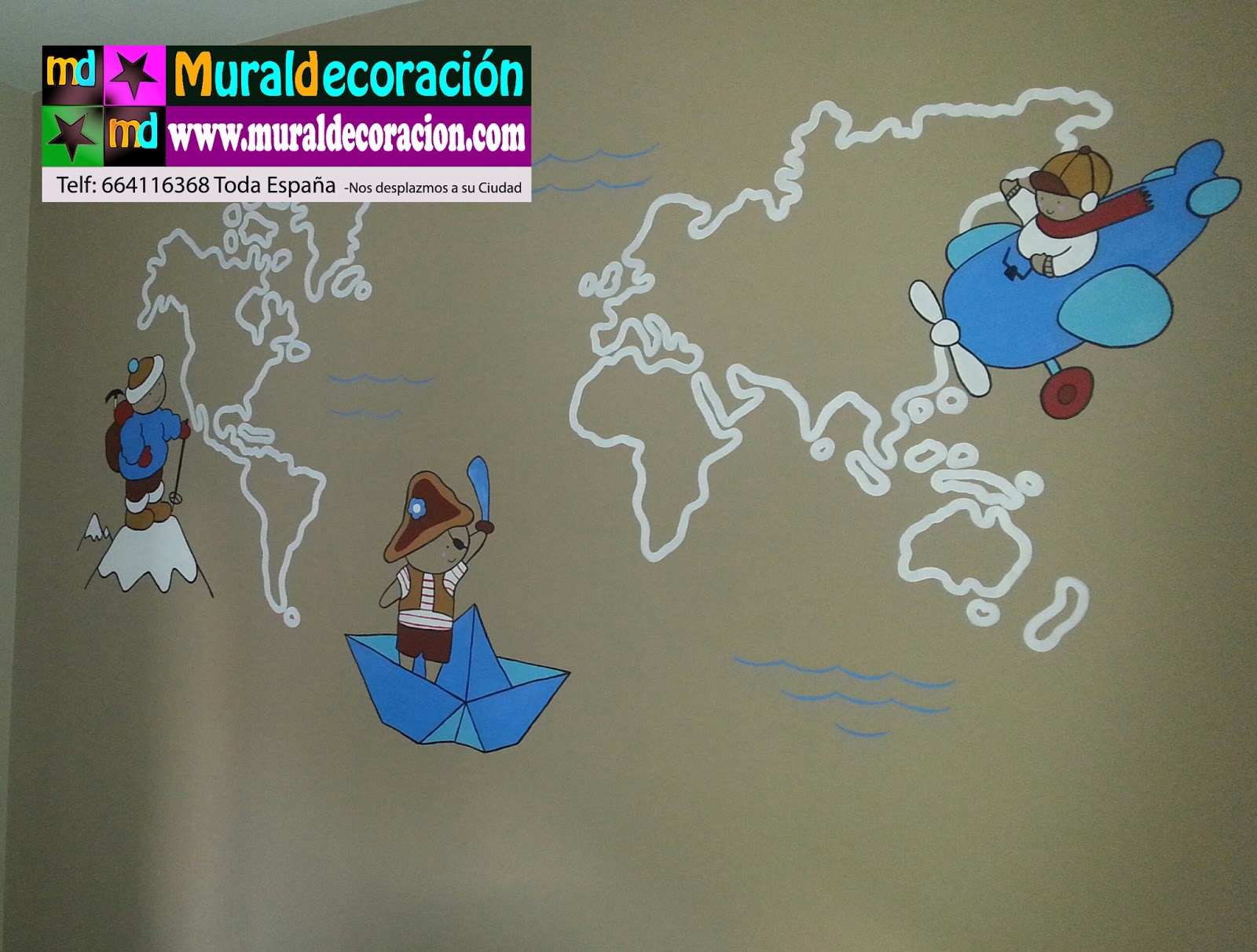 Murales infantiles - Mural pared infantil ...