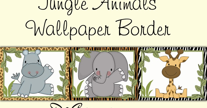 Decamp Studios Cute Jungle Animals Wallpaper Border Wall
