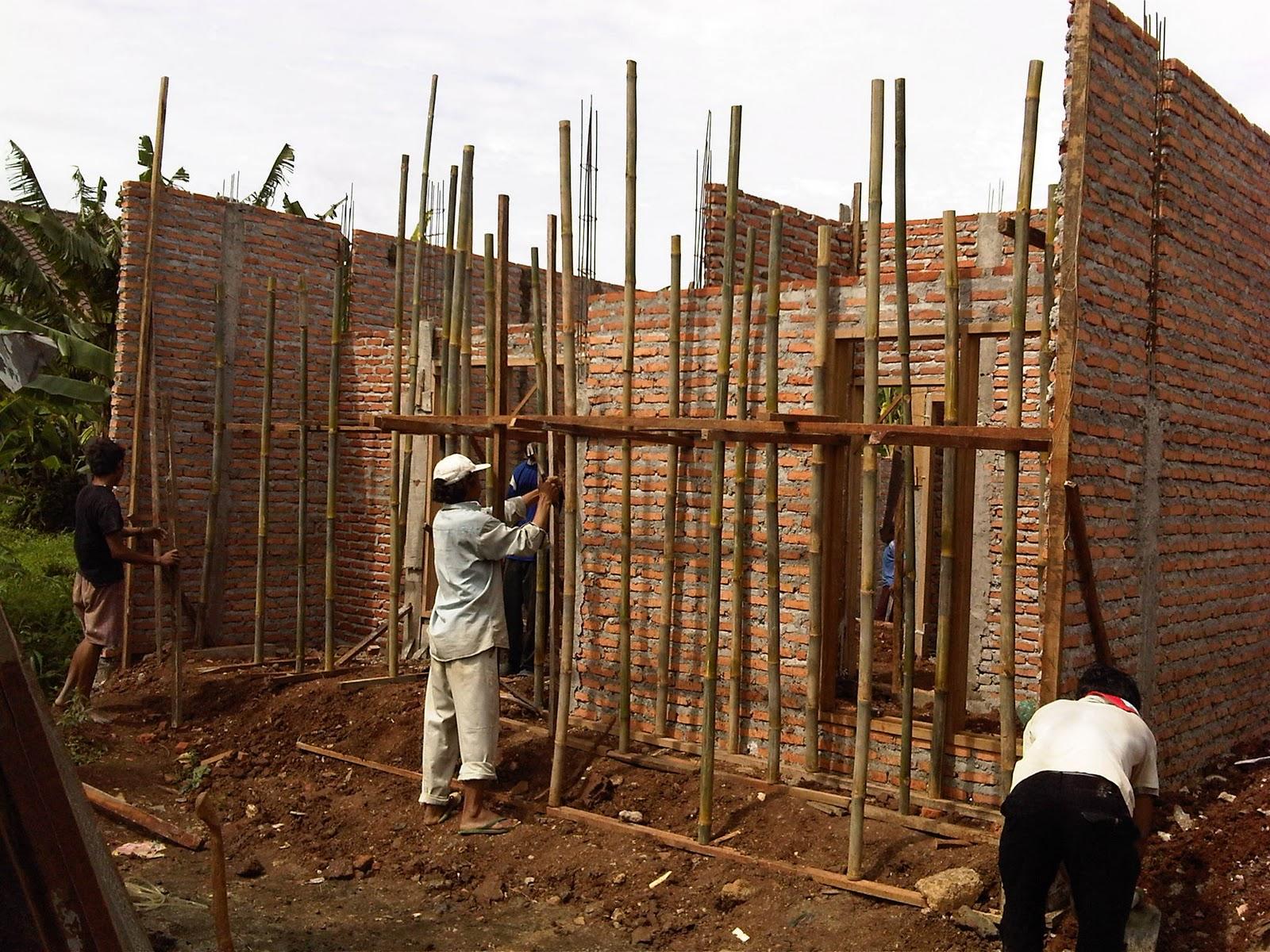 persiapan pembuatan dak rumah unit a2 rumah cantik sederhana