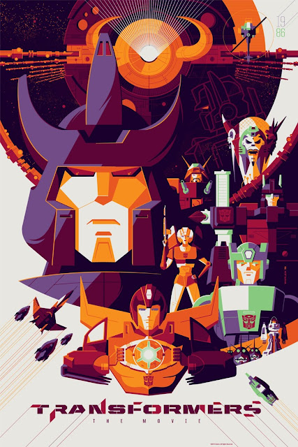Transformers: The Movie Standard Edition Screen Print by Tom Whalen