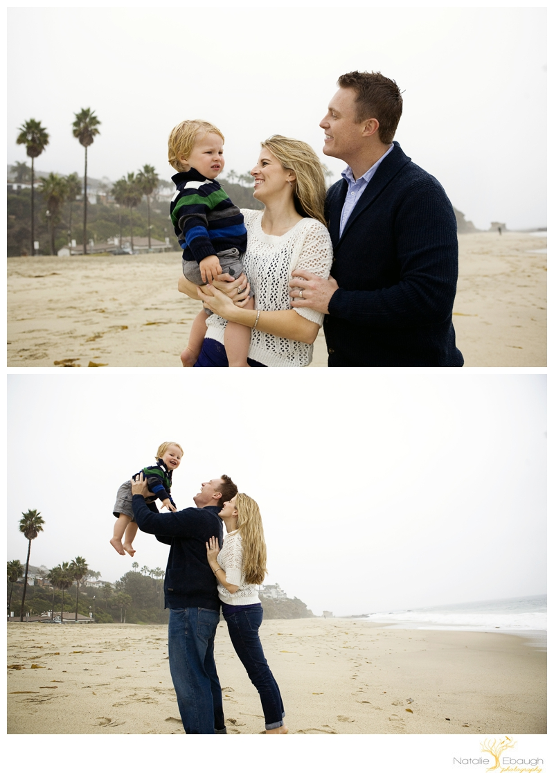 modern family portraits at beach
