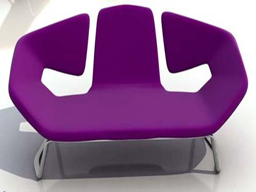 Modern Furniture Purple Chair Interior Decorating