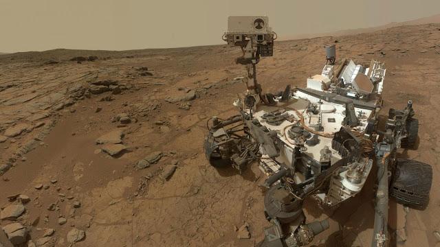 Foto Curiosity en Marte