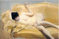 JOAQUÍN SOROLLA Desnudo en el diván amarillo 1912
