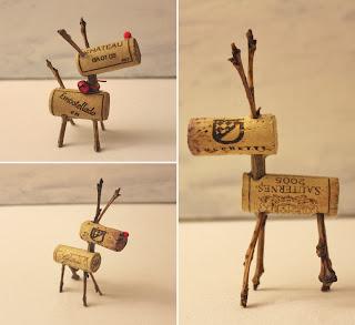 Reciclatex Decoraciones de Navidad Renos con tapones de corcho