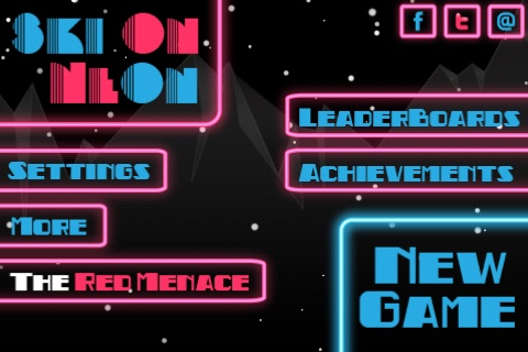 Ski On Neon Free App Game By Esoteric Development