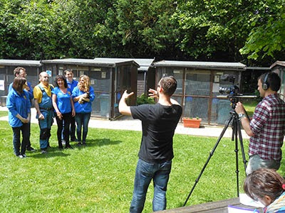 Directing the Cats Protection staff and volunteers