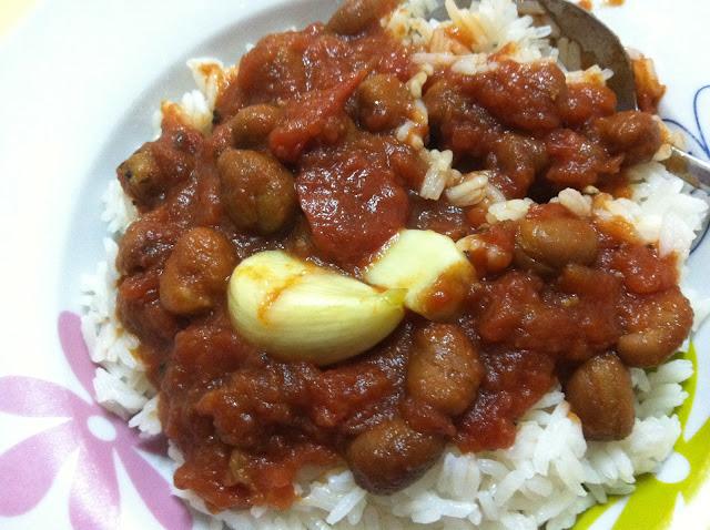 fava beans and garlic confit
