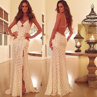 vestido longo de croche
