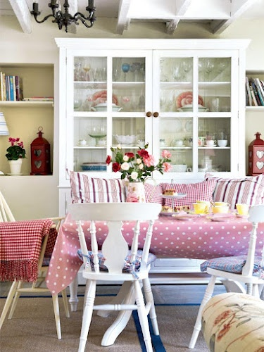 I Love All The Colors And Movement In This Dining Space White Painted Furniture Keeps It From Being Overwhelming