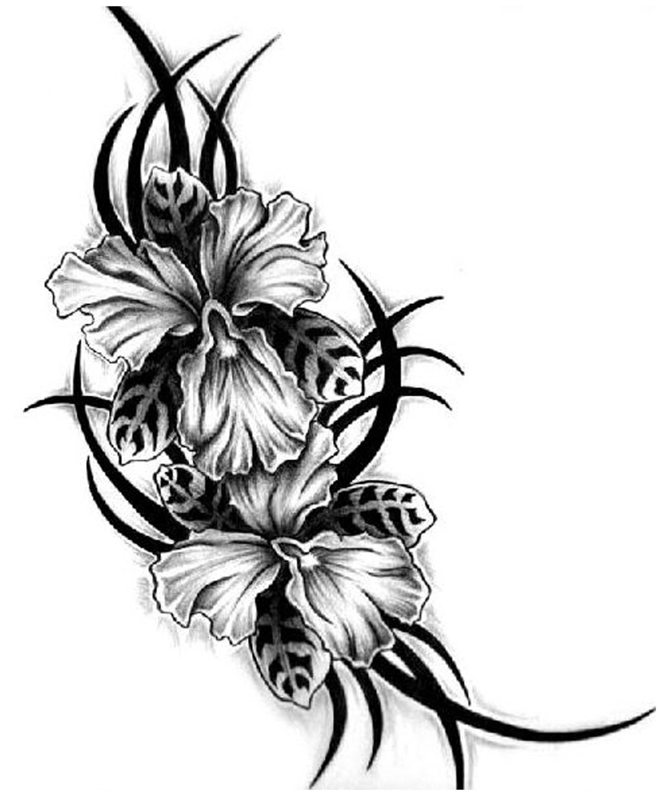 aiz tattoo gallery black flower tattoo for girls girls flowers tattoos. Black Bedroom Furniture Sets. Home Design Ideas